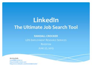LinkedIn The Ultimate Job Search Tool