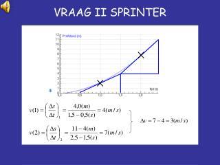 VRAAG II SPRINTER