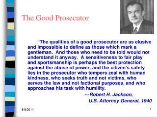 The Good Prosecutor