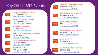 Key Office 365 Events