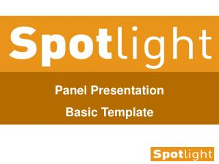 Panel Presentation Basic Template