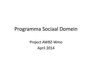 Programma Sociaal Domein