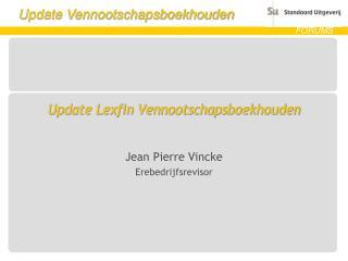 Update Lexfin Vennootschapsboekhouden