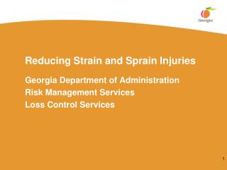 Reducing Strain and Sprain Injuries