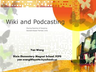 Wiki and Podcasting