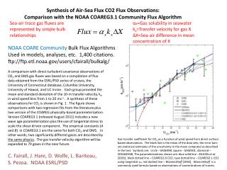 Synthesis of Air-Sea Flux  CO2 Flux Observations: