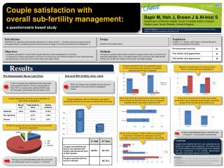 Couple satisfaction with  overall sub-fertility management: a  questionnaire based study