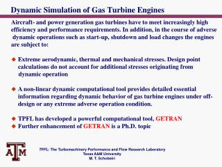 Dynamic Simulation of Gas Turbine Engines