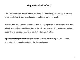 Magnetocaloric  effect