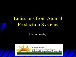 Emissions from Animal Production Systems