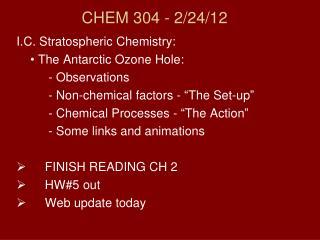 CHEM 304 - 2/ 24/12