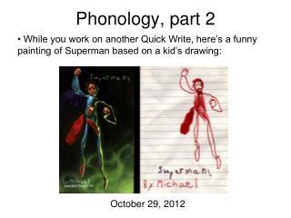Phonology, part 2