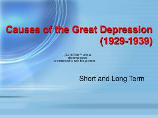 Causes of the Great Depression (1929-1939)