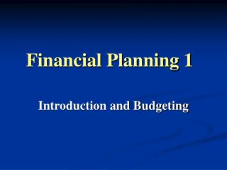Financial Planning 1