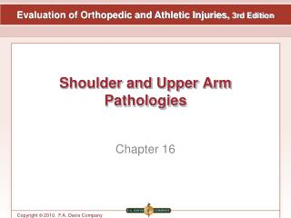 Shoulder and Upper Arm Pathologies