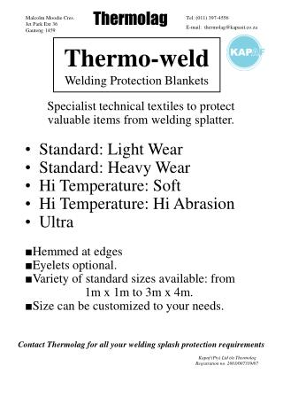 Thermo-weld Welding Protection Blankets