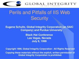 Perils and Pitfalls of IIS Web Security
