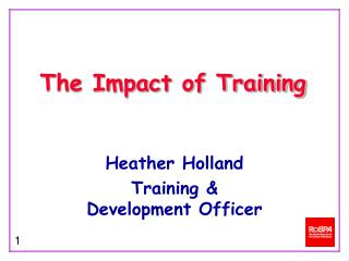 The Impact of Training