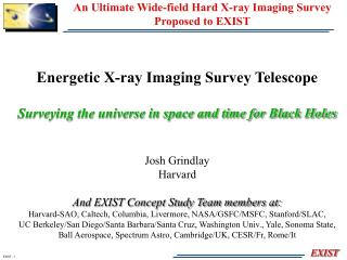 An Ultimate Wide-field Hard X-ray Imaging Survey  Proposed to EXIST