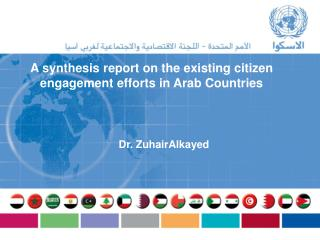 A synthesis report on the existing citizen engagement efforts in Arab Countries