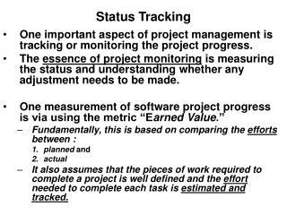 Status Tracking