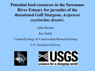 Potential food resources in the Suwannee River Estuary for juveniles of the threatened Gulf Sturgeon, Acipenser oxyrinch