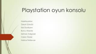 Playstation  oyun konsolu