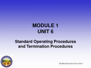MODULE 1 UNIT 6