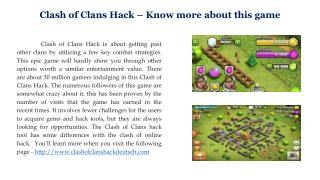 Clash of Clans Hack – Know more about this game