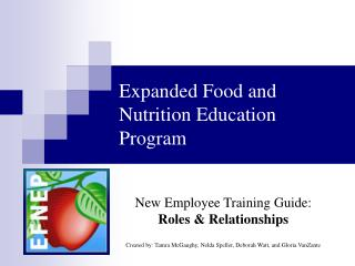 Expanded Food and Nutrition Education Program