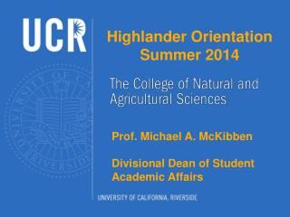 Highlander Orientation Summer  2014