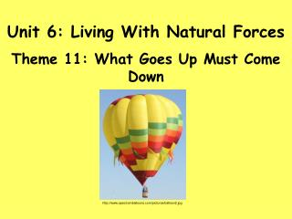 Unit 6: Living With Natural Forces