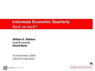 Indonesia Economic Quarterly Back on track?