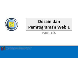 Desain dan Pemrograman Web 1