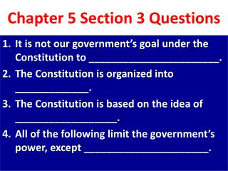 Chapter 5 Section 3 Questions