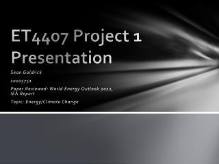 ET4407 Project 1 Presentation