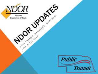 NDOR UPDATES