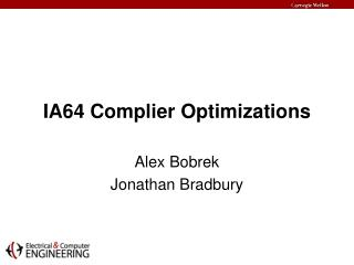 IA64 Complier Optimizations