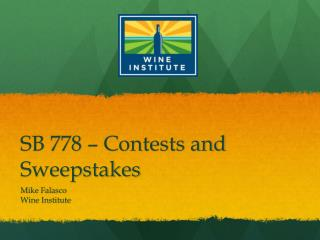 SB 778 – Contests and Sweepstakes