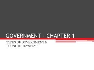 GOVERNMENT – CHAPTER 1