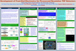 Development of Front-End Electronics for Picosecond Resolution TOF Detectors