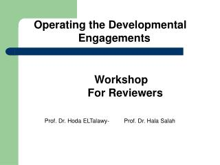 Workshop For Reviewers