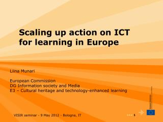Scaling up action on ICT for learning in Europe