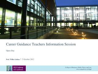 Career Guidance Teachers Information Session
