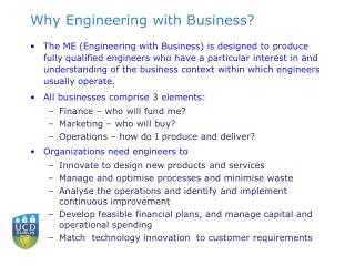 Why Engineering with Business?