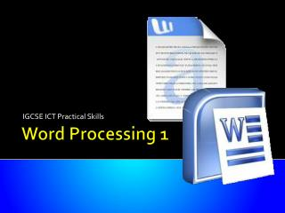 Word Processing 1