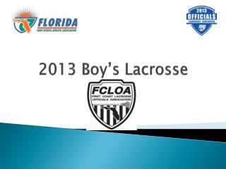 2013 Boy's Lacrosse