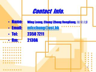 Contact  Info.