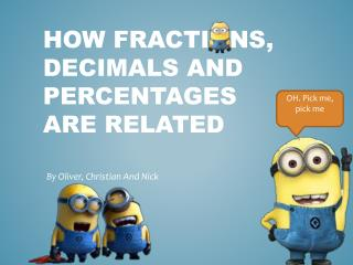 How Fractions, Decimals and Percentages ARE RELATED