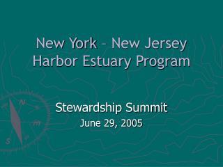 New York   New Jersey Harbor Estuary Program